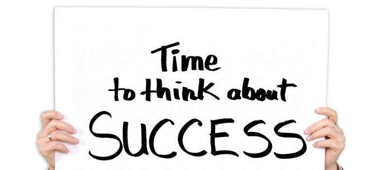time to think about success sign