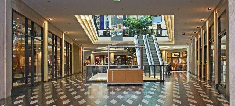 An empty mall.
